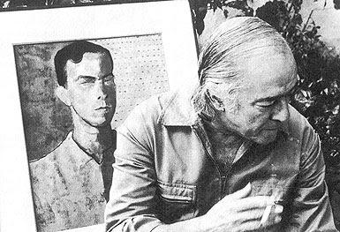 Vinícius de Moraes e seu retrato pintado por Portinari