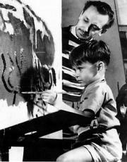 Portinari e seu filho João Candido